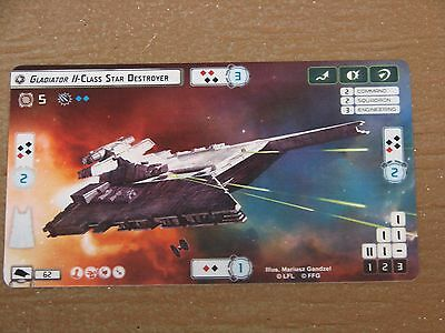 Star Wars Armada Extended Art Promo Card Gladiator II Class Star Destroyer