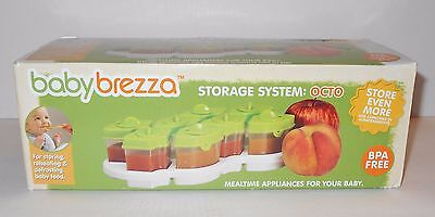 New Baby Brezza OCTO Food Storage System 8 containers BPA free