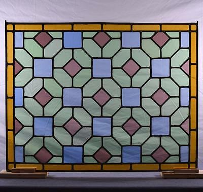 Antique French Stained Glass Panel with Leaded Glass • CAD $321.30