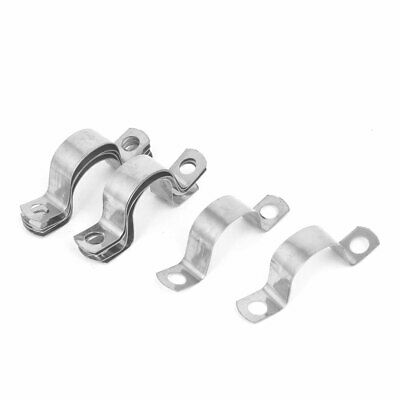20mm 0.8-inch Arch High Stainless Steel Pipe Strap Clamp Clip Silver Tone 10pcs