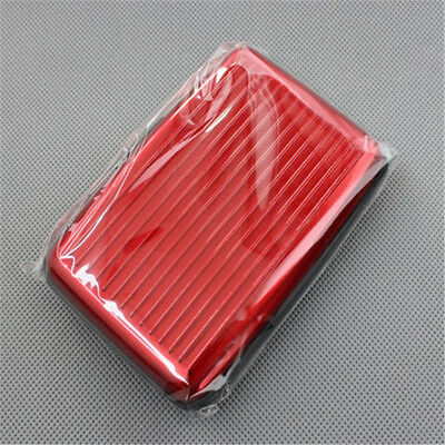 At Metal Aluminium Credit Card Wallet Holder Business Rfid Blocking Pouch Purse