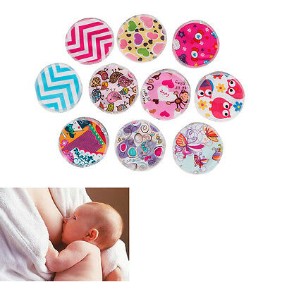 1Pair Leakproof Reusable Washable Bamboo Fiber Nursing Breastfeeding Pad