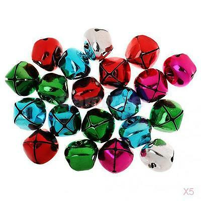 100pcs 35mm Colored Cross Metal Xmas Jingle Bell for Craft Jewelry Pendants