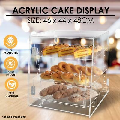 Deluxe Large Cake Display Cabinet Acrylic Bakery Muffin Donut Pastries Storage