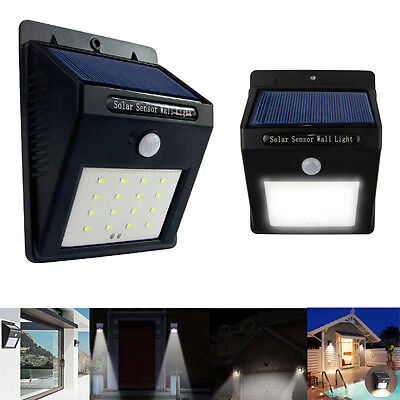 New 16 LED Solar Powered Sensor Bright Light waterproof for Outdoor Outside Wall