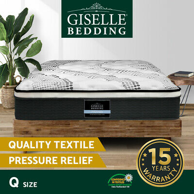 NEW Queen Mattress Bed Size Euro Top 5 Zone Pocket Spring High Resilience Foam