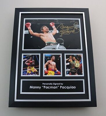 Manny Pacquiao Signed 16x12 Framed Photo Autograph Boxing Memorabilia Display