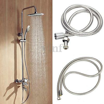 1.5M / 2M Stainless Steel Chrome Flexible Bathroom Shower Head Hose Bath Pipe