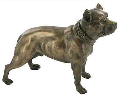 Pit bull Terrier, Dog Bronze Sculpture dog figure Brand New Boxed