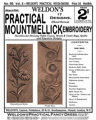 Weldon's 2D #50 c.1889 Practical Mountmellick Embroidery (3rd Book)
