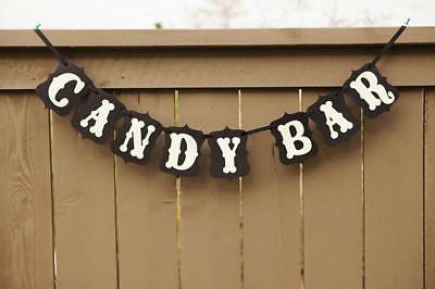 CANDY BAR Card Sign Bunting Banner Birthday Wedding Party Hanging Decoration