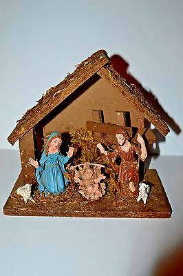 Vintage MADE IN ITALY  MANGER /NATIVITY / CRECHE SET