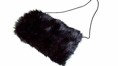 Black or White Faux Fur Muff for Toddlers and Girls, Unimitten, Handwarmer
