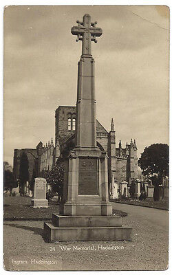 HADDINGTON War Memorial, RP Postcard by Ingram, Unused