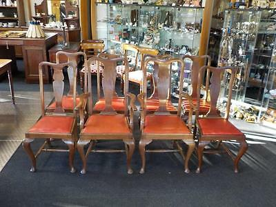 8 x Queen Anne Style Edwardian Dining Chairs 6 x Dining 2 x Carver