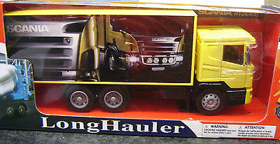 "New Ray 1:32 Scania Koffer-Lkw passend zu Spur 1 Modellbahn ""Neu""(AND)"