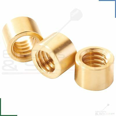 Peradon Snooker Pool Cue Brass Ferrules For Stick on Tips 6.5, 7, 8, 9 - 12mm