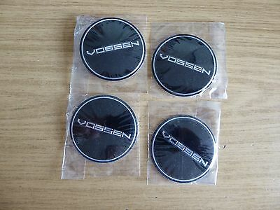 4 x NEW Vossen STYLE 65mm BLACK Wheel Cap STICKERS ONLY