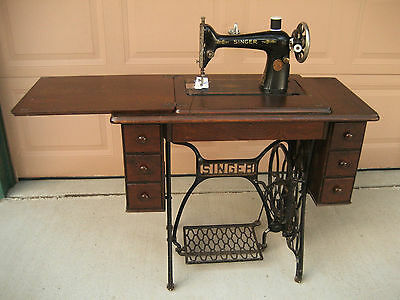 Vintage Singer Treadle Sewing Machine And Cabinet Local Pickup Only