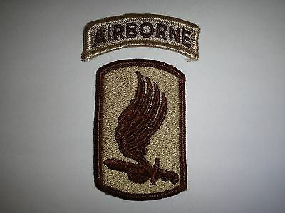 Set Of 2 US Army Desert Tan Patches: AIRBORNE + 173rd AIRBORNE BRIGADE