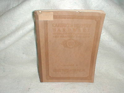 1927 Cabinet & Drapery Hardware Upholstery & Fabric Material Lussky White Book