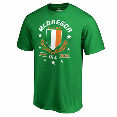 Conor McGregor UFC Fanatics Branded Takedown T-Shirt - Kelly Green - MMA