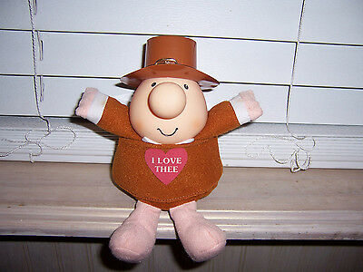 Ziggy I Love Thee Thanksgiving Pilgrim American Greetings Doll Vintage 1991