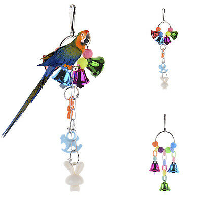 Pet Bird Cage Toys Pretty  Parrot Parakeet Budgie Cockatiel Hanging Toy