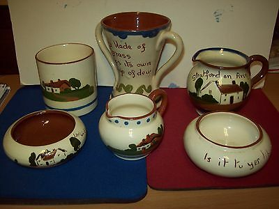 Six Pieces Of Motto/watcombe/torquay Ware