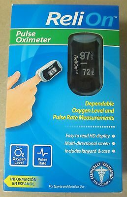 NEW Reli-On Pulse Oximeter Dependable Oxygen Levels & Pulse Rate