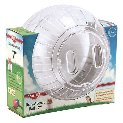 Super Pet Run-About Ball Clear 7in Diameter for Hamsters Gerbils Small Animals