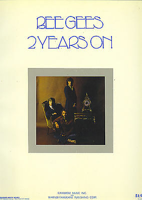 THE BEE GEES  2 Years On  rare original sheet music songbook