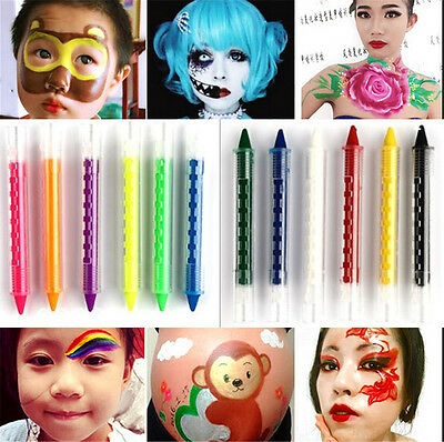6color Face Body Painting Kids Crayon Colour Kit Sticks Party Paint Halloween  b