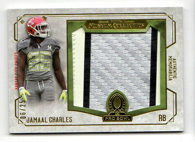Jamaal Charles Nfl 2014 Topps Museum Collection Pro Bowl Jumbo Relic Gold Chiefs