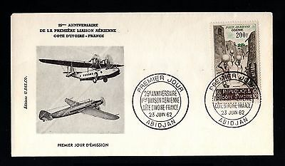 13346-COTE D´IVOIRE-FIRST DAY COVER ABIDJAN.1962.FRENCH Colonies.COSTA de MARFIL