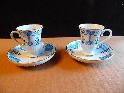 2 Avon 1984 European Tradition Demitasse Cup and Saucer Set Florence