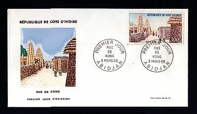 13342-COTE D´IVOIRE-FIRST DAY COVER ABIDJAN.1966.FRENCH Colonies.RUE de KONG.