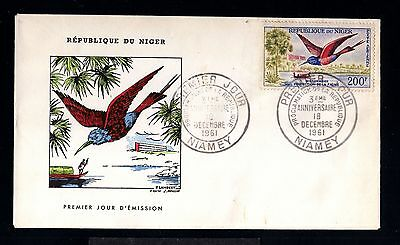 12861-REPUBLIQUE du NIGER-FIRST DAY COVER NIAMEY.1961.FRENCH Colonies.3º ANIVERS