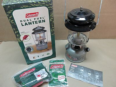 NEW Coleman 285-700 Two Mantle Dual Fuel Lantern INTERNATIONAL