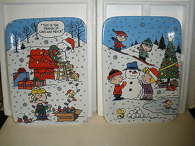 Danbury Mint Christmas With Charlie Brown Series A1528 Collector Plates