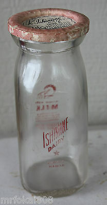 Ishimine Dairy Kohala Big Island Hawaii Acl Half Pint Milk Bottle Hawaiian