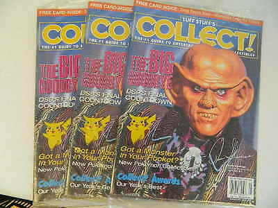 1999 Tuff Stuff Collect! MagazineS SEALED LOT OF 3 - DEEP SPACE 9 - MAY - #JT