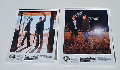 2 Signed Promotional SUPERNATURAL Photos from Season 1