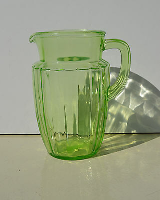 Outstanding Anchor Hocking Princess, Green Depression Glass Pitcher