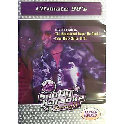 Sunfly Karaoke DVD Ultimate 90's - Full Video / Blue Options All Region & Player