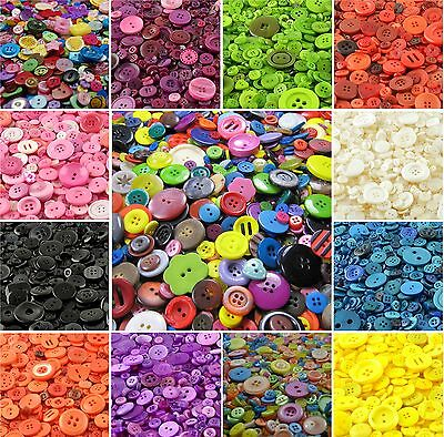 Assorted Mixed Buttons Arts Crafts Card Making Scrapbooking Sewing