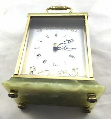 A  Onyx Battery Carriage Clock