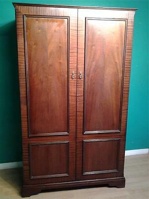 Vintage double door walnut wardrobe good fitted interior Olympus furniture