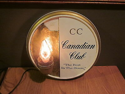 Vintage Cc Canadian Club The Best In The House Sign Bar Light Works Great