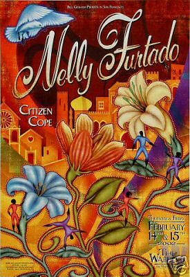 NELLY FURTADO/Citizen Cope WARFIELD/fillmore POSTER 276